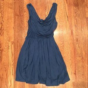 ANTHROPOLOGIE DELETTA Blue XS stretch dress